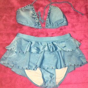 ⚡️Blue Two Piece Swimming Suit ⚡️